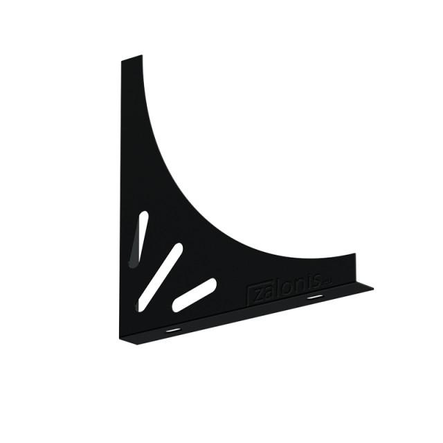 DELTA SHELF BRACKET 200x200x20, BLACK